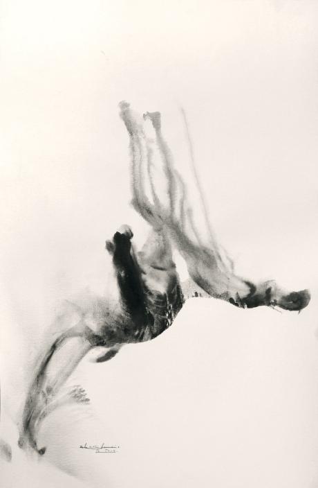 """""""Ceiba"""". Uryan Lozano. Impronta de grafito líquido sobre papel. Colección. Medio Cielo estudio."""