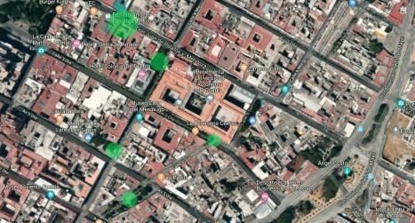 mapa lugares de recoleccion
